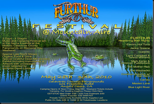 Furthur news… Lane leaves for Primus!  Phil in the Zone!  Furthur Festival line up announced…