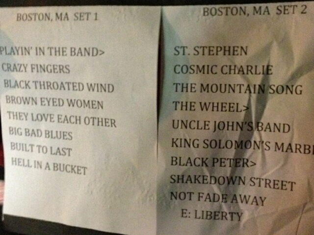 Furthur Video Clips from Wang Theatre Boston April 5, 2012