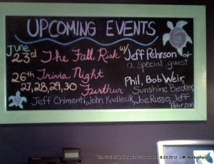 SETLIST The Fall Risk with guest Phil Lesh, The Grate Room, Terrapin Crossroads, June 23, 2012